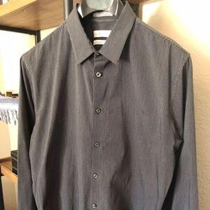 Calvin Klein Pinstripe Slim Fit Dress Shirt